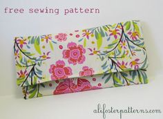 Free Clutch Sewing Pattern « Ali Foster's Blog: Sewing, Style, DIY, Indie Shopping…