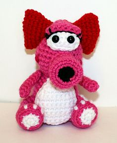 """This Mini Birdo Gamer Friend, inspired by Birdo is the perfect companion for that special little game-loving boy or girl in your life! She is 5"""" tall sitting or 6"""" tall standing and just perfect to hold in your hand!"""