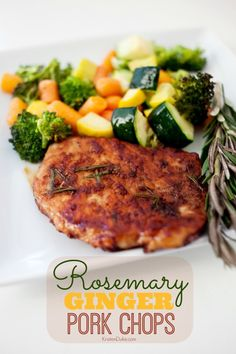 Rosemary Ginger Pork Chops Recipe on Capturing-Joy.com Such a simple and delicious recipe!