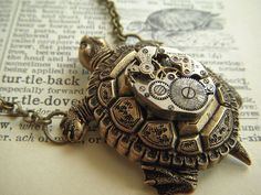 TURTLE STEAMPUNK NECKLACE on The Hunt