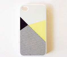 Lemon Color Block With Stripe / BlissfulCase