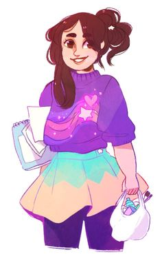 sergle: grown up mabel! she's going to paint some CREATURES for her STINKY BROTHERif anyone's wondering she's like ten thousand feet tall at this point Gravity Falls Theory, Dipcifica, Mabill, Mabel Pines, Phineas And Ferb, Old Shows, Cartoon Characters, Cartoon Art, Star Vs The Forces