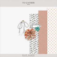 To Gather | Sahin Designs | Digital Scrapbook Freebie