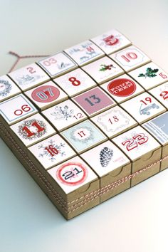 Advent Calendar / Christmas Countdown / by vintagemodernmix, $27.00