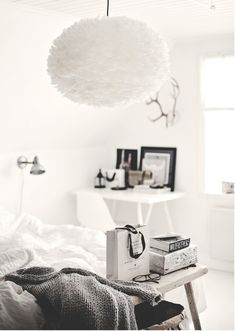 BEDROOM|FEATHER LAMP
