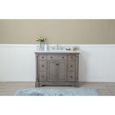 Ari Kitchen U0026 Bath Stella 42 Inch Double Bathroom Vanity Set (Anitque Grey)