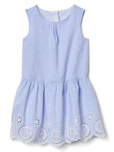 Baby girl eyelet drop-waist dress
