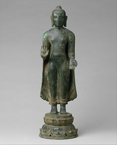 Buddha Offering Protection Period: Chola period (880–1279) Date: 11th–12th century Culture: India (Tamil Nadu, Nagapattinam) Medium: Copper alloy