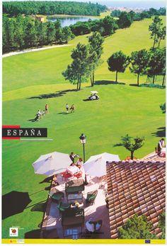 Isla Cristina en Huelva en un cartel de #turismo de España del año 2001 | via #Viajology Travel Posters, Madrid, Golf Courses, Spain, Spain Tourism, Andalusia Spain, Vintage Posters, Cities, Fiestas