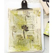 Creatively Stamped Art Papers, by Vanessa Spencer, with rubber stamps by Colette Copeland