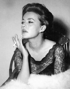 """Jeanne Moreau, 1963, called by Orson Welles""""the greatest actress in the world."""""""