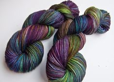 Hand Painted Superwash Merino DK Yarn -- Tropical Fish (Ex-Lg 120gram/282yds skein) (23.95 USD) by SeeJayneKnitYarns