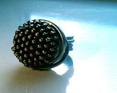 Antique Studded Button Metal Wrapped Ring    http://www.etsy.com/shop/BigTable