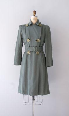 1940s coat trench coat - channeling Ingrid Bergman in Casablanca