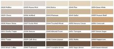 beige paint sample colors chart_4