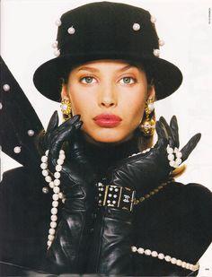 Christy in CHANEL for ELLE, 1988