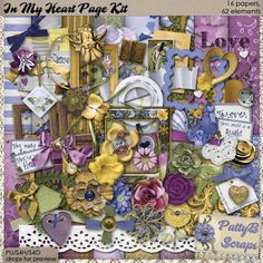 In My Heart Page Kit by PattyB Scraps