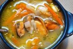 Food, Fish Soup, Soup From Seafood Hungarian Cuisine, Hungarian Recipes, Top Recipes, Healthy Recipes, Veal Stew, Chefs, Clam Chowder Recipes, Bread Alternatives, Cooked Cabbage