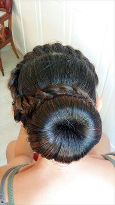 Hairstyle braid bun