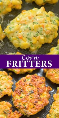 dinner recipes for family main dishes These easy Corn Fritters are sweet, delicate, and filling. They can be prepared with fresh, frozen, or canned corn. Quick Dinner Recipes, Appetizer Recipes, Dinner Healthy, Seafood Appetizers, Dessert Recipes, Tasty Vegetarian Recipes, Healthy Recipes, Keto Recipes, Easy Recipes
