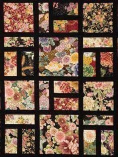 Sometimes Fabric Just Sings by Barbara Gower. 2015 Quilters' Guild NSW show (Sydney, Australia). Japanese Quilt Patterns, Patchwork Quilt Patterns, Scrappy Quilts, Quilt Block Patterns, Easy Quilts, Japanese Fabric, Japanese Patchwork, Big Block Quilts, Small Quilts