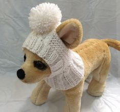 Pet Clothes Apparel Winter Outfit Knit Dog Hat for Small Dogs