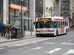 SEPTA New Flyer bus on Walnut St.. Phila. 1-21-17