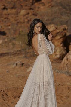 JOURNEY – Evie Young Bridal Long Sleeve Bridal Dresses, Bridal Gowns, White Gowns, Designer Wedding Dresses, Elegant, Sequins, Feminine, Glamour, Bride
