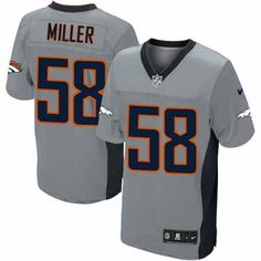 all size free shipping limited mens nike denver broncos 58 von miller shadow grey nfl · football je