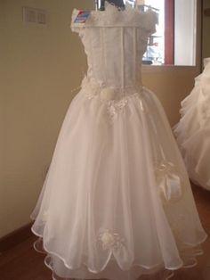 vestidos de primera comunion sencillos para niña de 12 años - Buscar con Google