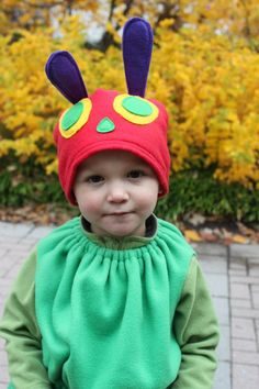 What a beautiful costume on an adorable little caterpillar!  Shared on www.facebook.com/theworldofericcarle :-)