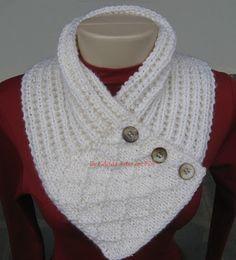 Celeida Artes em Fios: Gola de tricô - com receita