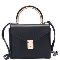 SheIn(sheinside) Black PU Push Lock Shoulder Bag (£21) ❤ liked on Polyvore featuring bags, handbags, shoulder bags, purses, bolsos, black, shoulder hand bags, shoulder handbags, purse shoulder bag and shoulder bag purse