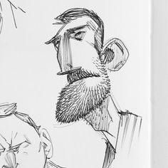 """좋아요 213개, 댓글 5개 - Instagram의 Max Ulichney(@maxulichney)님: """"#characterdesign #illustration #sketchbook #sketch #beard"""""""