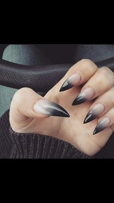 cool and creative stiletto nail art designs; - Diy Nagel - cool and creative stiletto nail art designs; Nail Designs Bling, Ombre Nail Designs, Acrylic Nail Designs, Nail Art Designs, Nails Design, Matte Nails Acrylic, Ongles Goth, Nail Stiletto, Nail Nail
