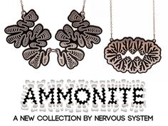 A new collection, Ammonite by Nervous System. http://n-e-r-v-o-u-s.com/shop/line.php?code=9