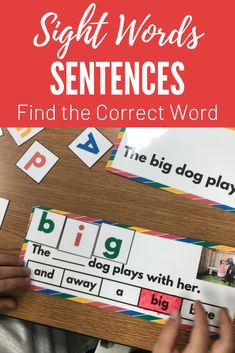 Sight Word Sentences - Find the Correct Word - Beginning to Read Sight Word Sentences, Teaching Sight Words, Dolch Sight Words, School Resources, Classroom Resources, Autism Classroom, Teaching Resources, Teaching Ideas, Creative Teaching
