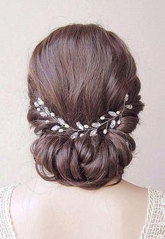 Bridal hair wreath wedding hair wreath crystal hair vine