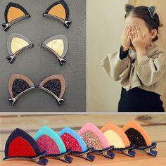 1Pc Three-Dimensional Headwear Cute Cat Ears Hairpin Baby Children Hair Ornaments