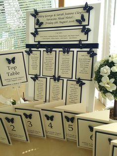 Navy Blue Butterfly Wedding Seating Plan, table number, post box , Guest book in Home, Furniture & DIY, Wedding Supplies, Other Wedding Supplies | eBay!