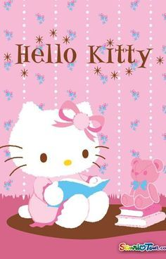 Image about wallpaper in Hello kitty by ป่านแก้ว Hello Kitty Art, Hello Kitty Pictures, Hello Kitty Items, Sanrio Hello Kitty, Kitty Images, Kitty Cam, Hello Kitty Imagenes, Miss Kitty, Kitty