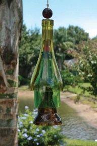wine bottle pendant wind chime #DIY