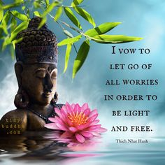 I vow to let go of all worries in order to be light and free.