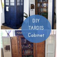 This TARDIS Bookshelf DIY is Actually Bigger on The Inside - Our Nerd Home