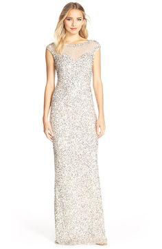 Parker Black 'Jennifer' Embellished Illusion Gown available at #Nordstrom