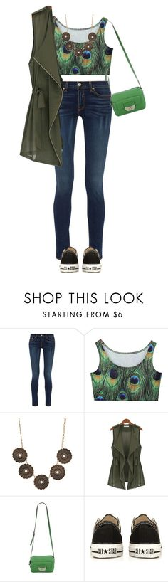 """""""green + peacocks"""" by cnle ❤ liked on Polyvore featuring rag & bone, Charlotte Russe, B. Makowsky and Converse"""