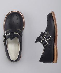 Navy Skipper Double-Buckle Shoe | zulily