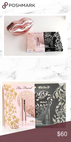 Kat Von D Too Faced Better Together Kat Von D x Too Faced Better Together set new in box. Unused, unswatched. I have too much make up and don't have enough faces to use it all on! Comes with palette, mascara and liquid liner. Too Faced Makeup Eyeshadow