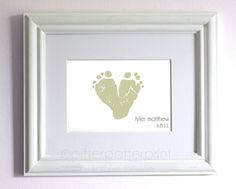 First Father's Day Gift from Child  Baby by PitterPatterPrint, $25.00