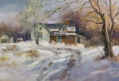 Tips for Painting Snow, at ArtistsNetwork.com. #painting #landscapes #snow #art